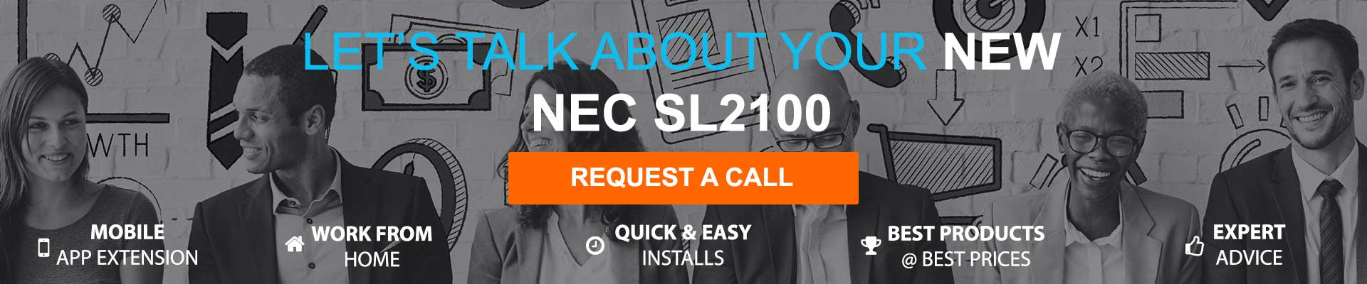 Buy an NEC SL2100 communications system - request a call